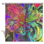 Bright Burst of Color Shower Curtain