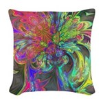 Bright Burst of Color Woven Throw Pillow
