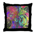 Bright Burst of Color Throw Pillow
