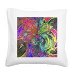 Bright Burst of Color Square Canvas Pillow