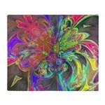 Bright Burst of Color Throw Blanket