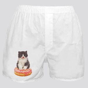 Kitten on a Donut Boxer Shorts