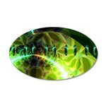 Dawn of Time Abstract 20x12 Oval Wall Decal