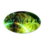 Dawn of Time Abstract 35x21 Oval Wall Decal
