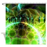 Dawn of Time Abstract Shower Curtain