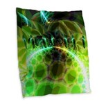 Dawn of Time Abstract Burlap Throw Pillow