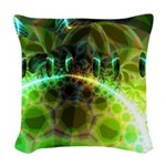Dawn of Time Abstract Woven Throw Pillow