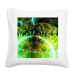Dawn of Time Abstract Square Canvas Pillow