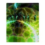 Dawn of Time Abstract Throw Blanket