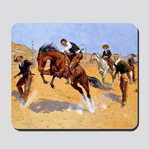 Cowboy art: Turn Him Loose, Bill Mousepad