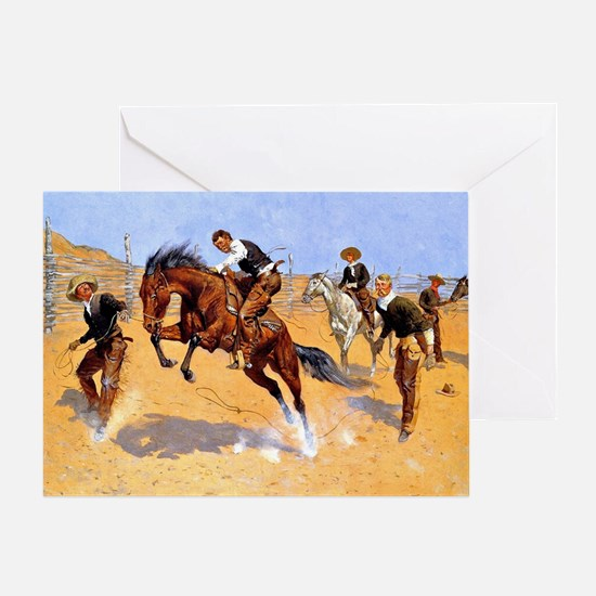 Cowboy art: Turn Him Loose, Bill Greeting Card