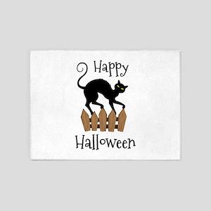 Happy Halloween 5'x7'Area Rug