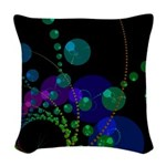 Abstract Dance of the Spheres Woven Throw Pillow