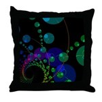 Abstract Dance of the Spheres Throw Pillow
