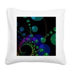 Abstract Dance of the Spheres Square Canvas Pillow