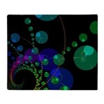 Abstract Dance of the Spheres Throw Blanket