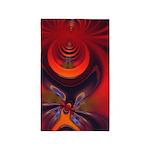 Fractal Amber Goddess Vertical 3'x5' Area Rug