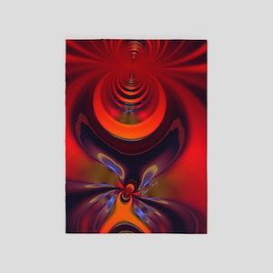 Fractal Amber Goddess Vertical 5'x7'Area Rug