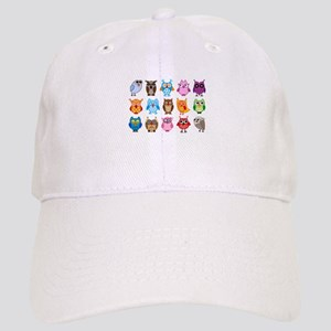 colorful cute owls Baseball Cap