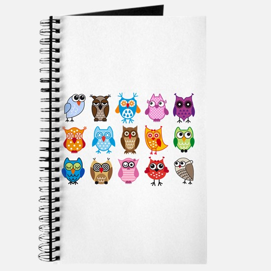 colorful cute owls Journal