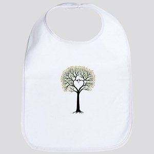 Love tree with heart branches, birds and hearts Bi