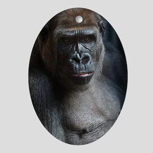 Portrait Of a Gorilla Ornament (Oval)