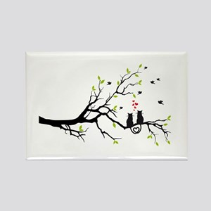 Cats in love on tree Magnets