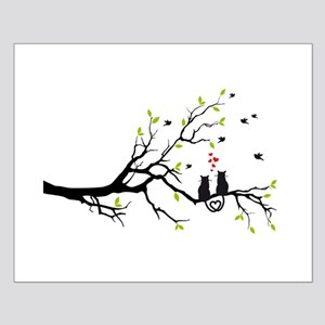 Cats in love on tree Posters