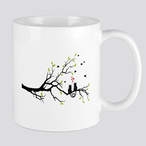 Cats in love on tree Mugs