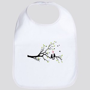 Cats in love on tree Bib
