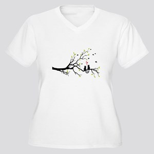 Cats in love on tree Plus Size T-Shirt
