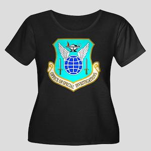 USAF OSI Women's Plus Size Scoop Neck Dark T-Shirt