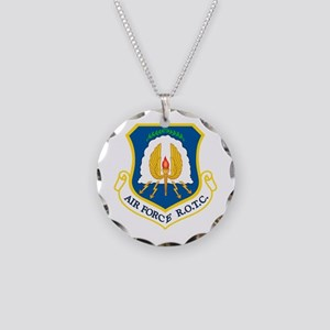 USAF ROTC Necklace Circle Charm