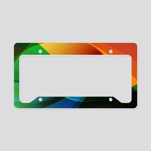 Colorful Abstract Art License Plate Holder