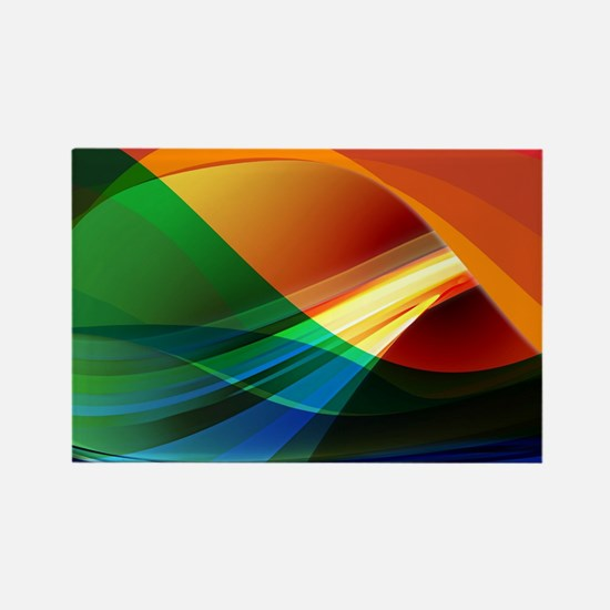 Colorful Abstract Art Rectangle Magnet
