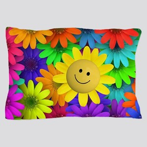 Colorful Art of Flower Pillow Case