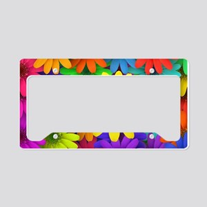 Colorful Art of Flower License Plate Holder