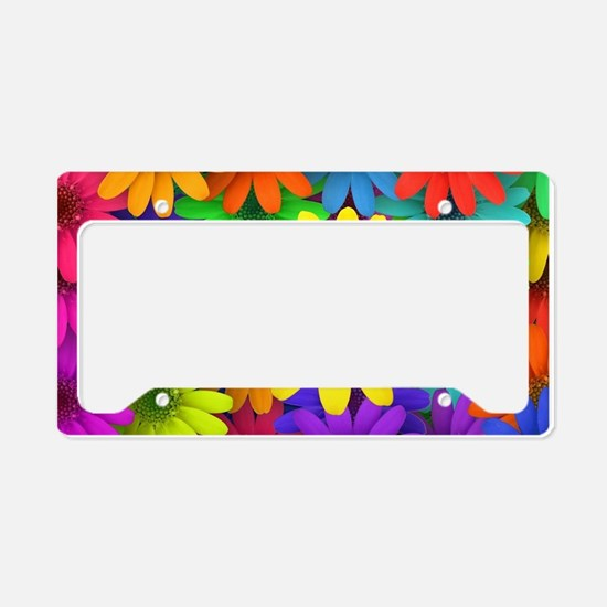 Colorful Art of Flower License Plate Holder