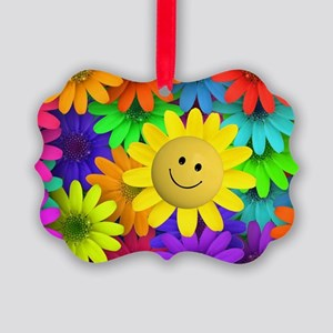 Colorful Art of Flower Picture Ornament