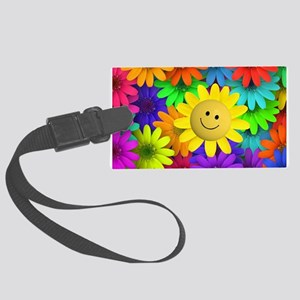 Colorful Art of Flower Large Luggage Tag