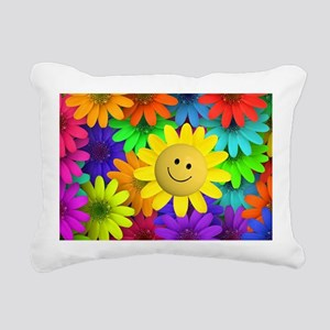 Colorful Art of Flower Rectangular Canvas Pillow