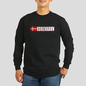 Kobenhavn, Denmark Long Sleeve Dark T-Shirt