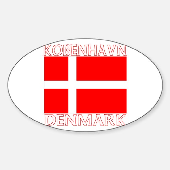 Kobenhavn, Denmark Oval Decal