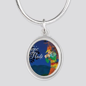 The Magic Flute Silver Oval Necklace