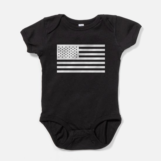 Subdued US Flag Tactical Baby Bodysuit