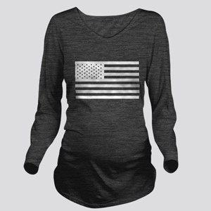 Subdued US Flag Tactical Long Sleeve Maternity T-S