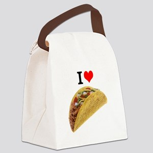 I Love Tacos Canvas Lunch Bag