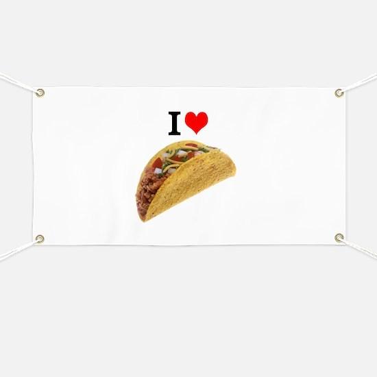 I Love Tacos Banner