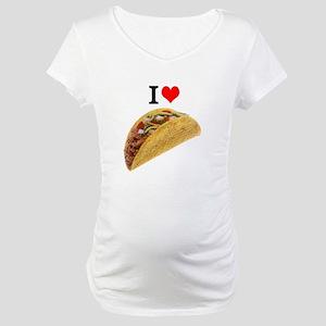 I Love Tacos Maternity T-Shirt