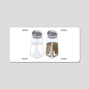 Salt Pepper Shakers Aluminum License Plate